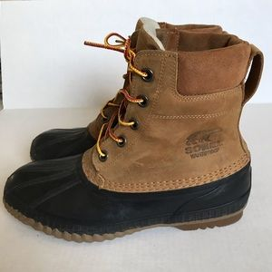 Sorel mens cheyanne Duck waterproof boots 9